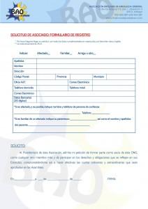 SOLICITUD ASOCIADO